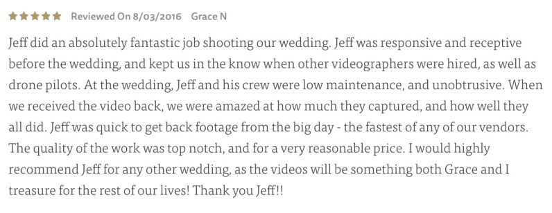 Read more on theknot.com (click Review)